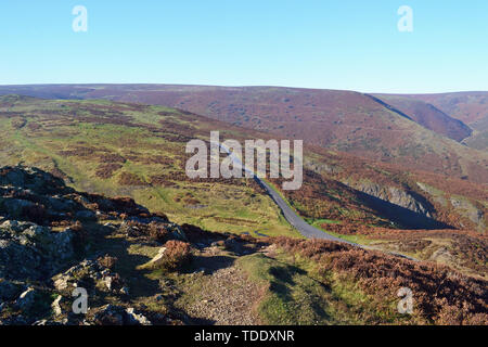 View from The Long Mynd in the Shropshire Hills, UK. - Stock Image