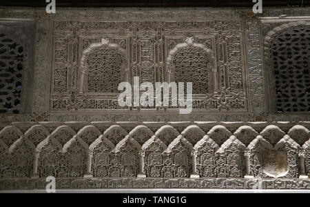 Spain. Seville. Alcazar of Seville. Mudejar plasterwork. 1340. Hall of Justice. - Stock Image