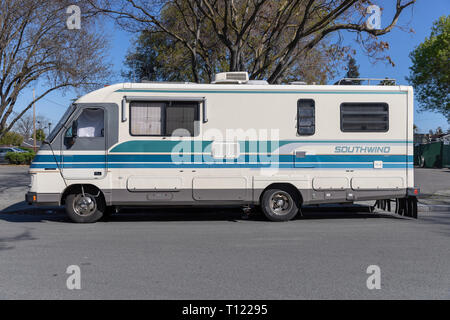 Winnebago Southwind camper; Sunnyvale, California, USA - Stock Image