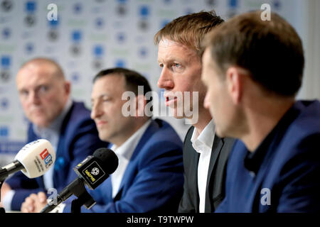 Brighton and Hove Albion's new manager Graham Potter during a press conference at The American Express Elite Football Performance Centre, Brighton. - Stock Image