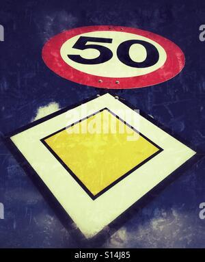 Traffic sign - Stock Image