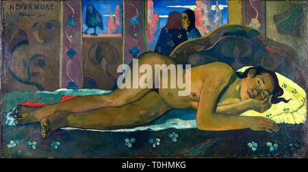 Paul Gauguin, Nevermore, painting, 1897 - Stock Image