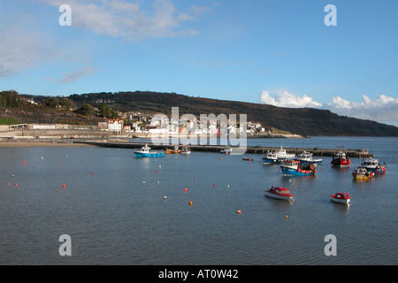 Lyme Regis and Harbour Dorset England - Stock Image