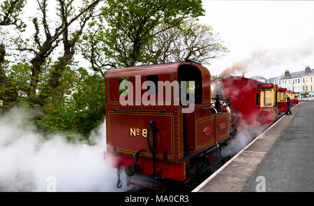RS 8053  Isle of Man Steam Railway, Port Erin Station, Isle of Man, UK - Stock Image