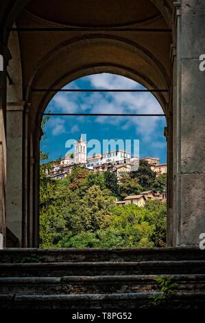Italy Lombardy Unesco World heritage Site - Sacro Monte di Varese ( Varese sacred Mount ) - Stock Image