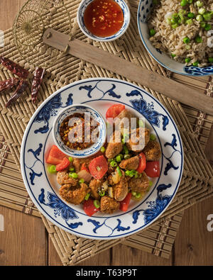 Salt and pepper chicken. Chinese Food - Stock Image