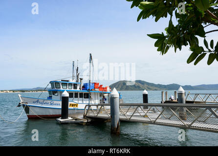 Arafura Queen fishing boat moored at the jetty, Cooktown, Far North Queensland, QLD, FNQ, Australia - Stock Image