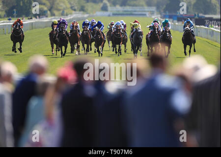 First Eleven ridden by Frankie Dettori wins the Sky Bet Race To The Ebor Jorvik Handicap during day one of the Dante Festival at York Racecourse. - Stock Image