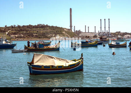 'Marsaxlokk Bay' Fishermen village - Stock Image