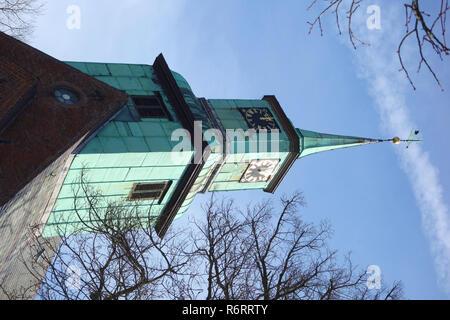 evangelical lutheran church in hamburg nienstedten - Stock Image