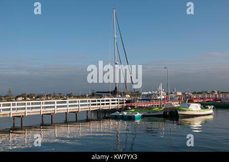 Waterfront at the historic village of Port Albert, South Gippsland, Victoria, Australia - Stock Image
