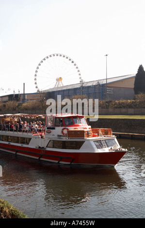 pleasure boat river ouse york - Stock Image