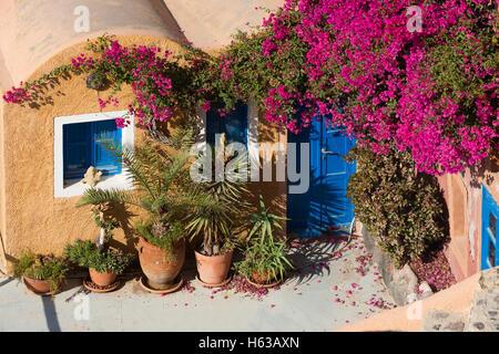 Tragidional houses at Oia , Santorini - Stock Image