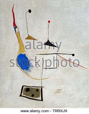 Painting on White Ground 1936 Miro Joan born 1893, Spain, Spanish - Stock Image