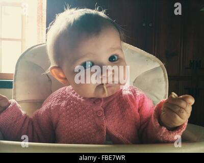 Close-Up Portrait Of A Baby - Stock Image