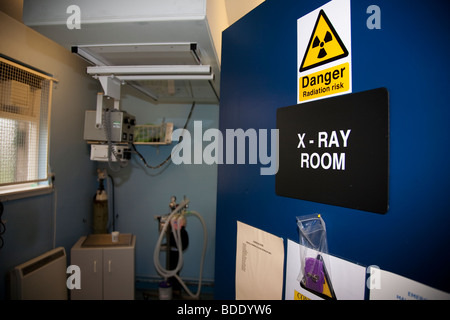 X Ray Room in a Veterinary Clinic - Stock Image