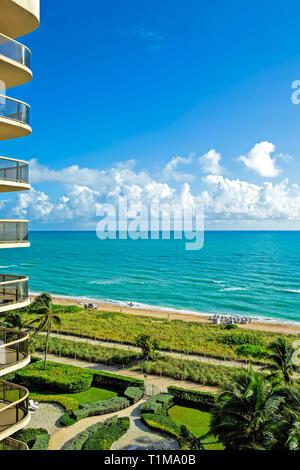 North Miami beach hotel view - Stock Image