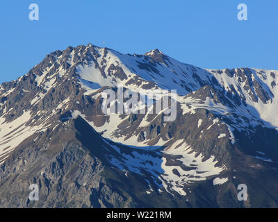 Parpaner Rothorn, high mountain in Canton of Grisons, Switzerland. - Stock Image