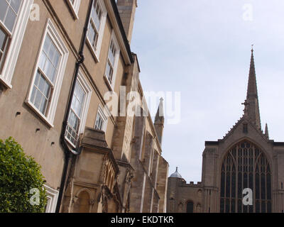 Norwich Cathedral, Norwich, Norfolk, UK - Stock Image