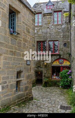 Locronan old village in Finistere, Brittany - Stock Image