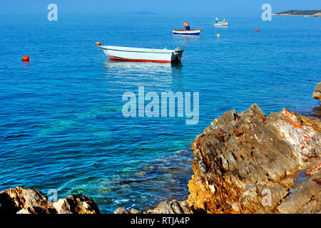 Prizba town, Island of Korcula, Dalmatian coast, Croatia - Stock Image