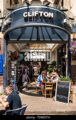 Entrance of Clifton Arcade, Bristol, UK - Stock Image