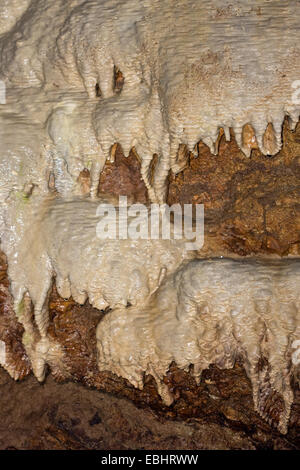 Flowstone in the Lummelunda caves in Gotland, Sweden. - Stock Image
