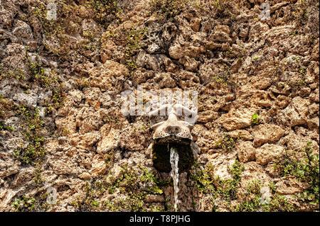 Italy Lombardy Unesco World heritage Site - Sacro Monte di Varese ( Varese sacred Mount )- Fountain - Stock Image