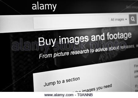 Alamy website homepage - Stock Image