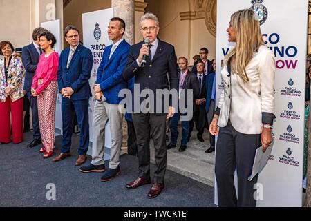 Piedmont Turin - Turin auto show 2019  - Valentino park - Valentino castle - Presidente ASi Alberto Scuro - Stock Image