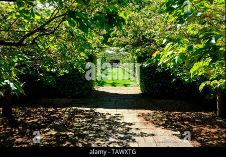 walled garden at houghton hall, norfolk, england - Stock Image