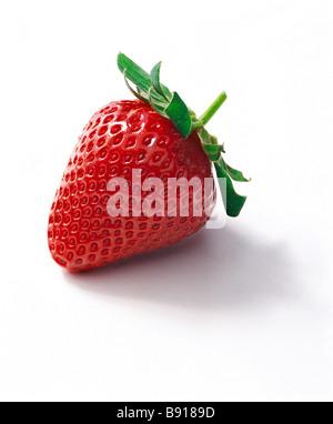 Single strawberry - Stock Image