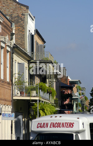 New Orleans LA Louisiana French Quarter buildings - Stock Image