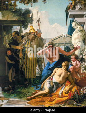 Giovanni Battista Tiepolo, The Death of Hyacinth, painting, c. 1752 - Stock Image