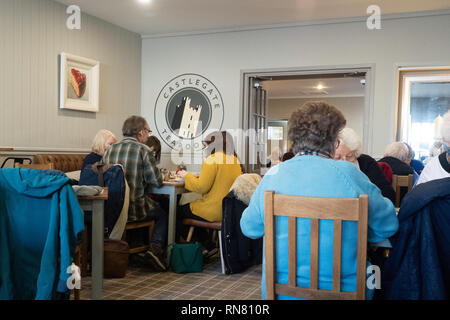 Interior of the Castle Gate Tearoom Café in Helmsley North Yorkshire - Stock Image