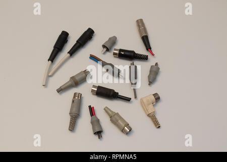 Various DIN audio plugs - Stock Image