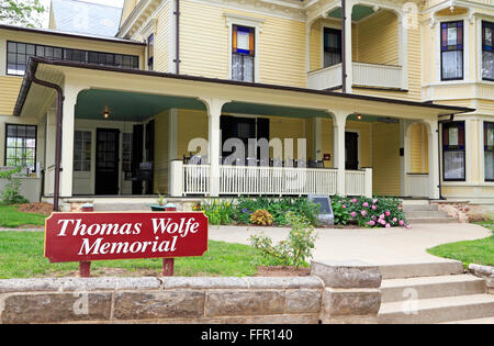 Thomas Wolfe Memorial in Asheville, North Carolina. - Stock Image
