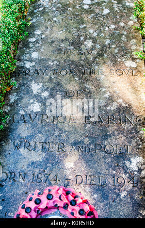 The grave of Maurice Baring OBE in Saint Mary's Church Yard, Eskadale, Beauly, Scotland, United Kingdom on the estate of Lord Lovat, - Stock Image