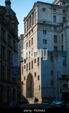 The Hotel Gotham, a former bank building designed by Edwin Lutyens, built 1935, Spring Gardens, Manchester, England, UK - Stock Image