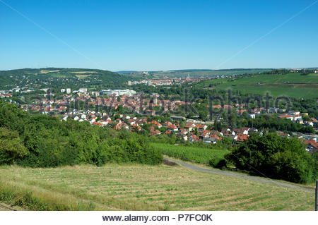 View of Würzburg, in the region of Franconia, northern Bavaria, Germany. - Stock Image