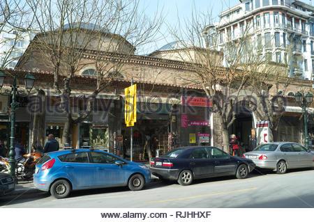 Bezestini market, in Thessaloniki, Central Macedonia, Greece. - Stock Image