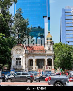 Palacete Franco de Mello, Avenida Paulista, Sao Paulo, Brazil - Stock Image