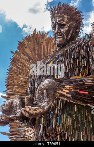 The Knife Angel in Victoria Square, Birmingham, England. - Stock Image