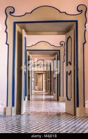 Interior of Villa Rufolo, Ravello - Stock Image