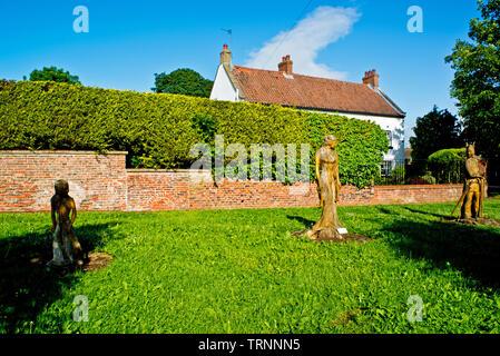 The Guardians of Sadberge, Sadberge, Borough of Darlington, England - Stock Image