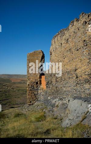 Castle of Trasmoz near Moncayo mountain, in Zaragoza, Aragon, Spain. Gustavo Adolfo Becquer route. - Stock Image