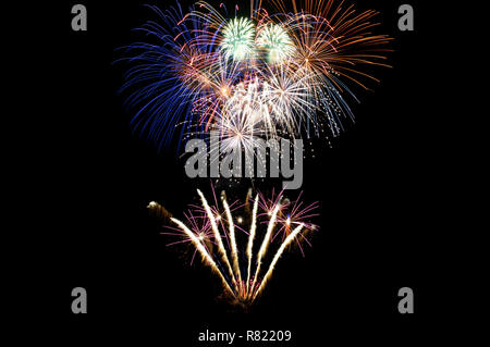 A large multicoloured Firework Display - Stock Image