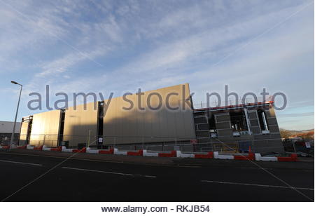 Menzieshill Community Centre under construction Dundee Scotland  28th January 2019 - Stock Image