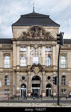 University of the Arts, Universität der Künste, UdK, historic building exterior & façade in Charlottenburg-Berlin.                                     - Stock Image