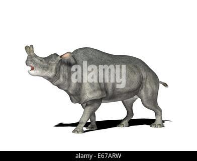 Dinosaurier Megacerops / dinosaur Megacerops - Stock Image